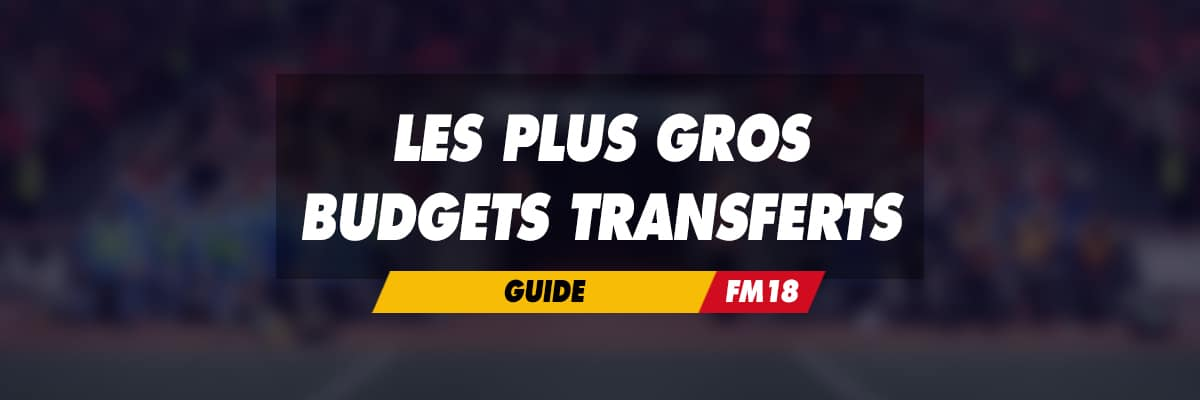 Plus gros budgets transferts