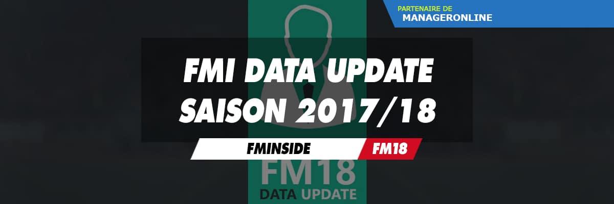 FMInside Data Update Saison 2017/18