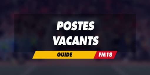 Postes vacants dans Football Manager 2018