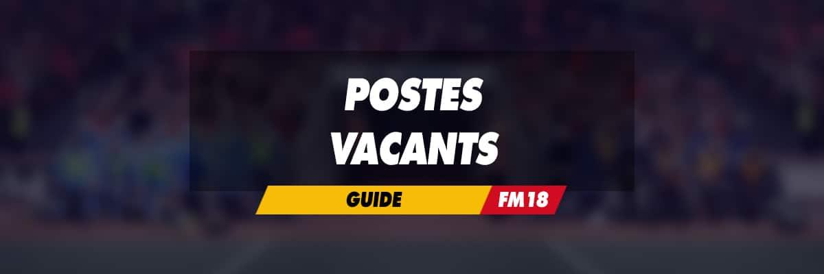 Postes vacants dans Football Manager 2018
