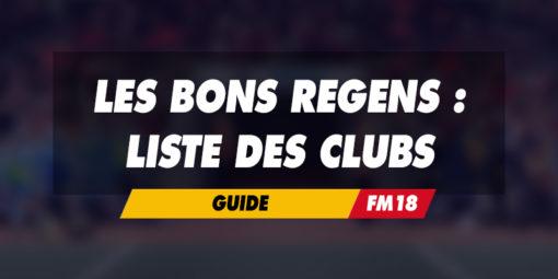Liste des clubs à observer