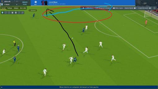Ne pas utiliser les côtés - Messi - Dembélé