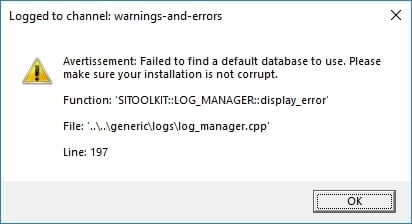 Logged to channel : warnings-and-errors (PC)