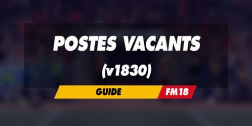 Postes vacants