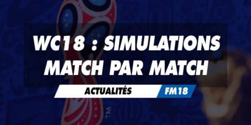 Simulations match par match de la CDM 2018