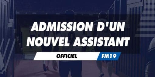 Admission d'un nouvel assistant