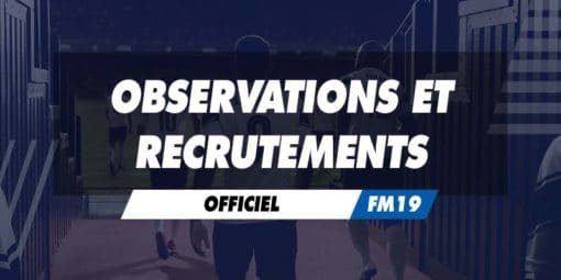 Observations et recrutements