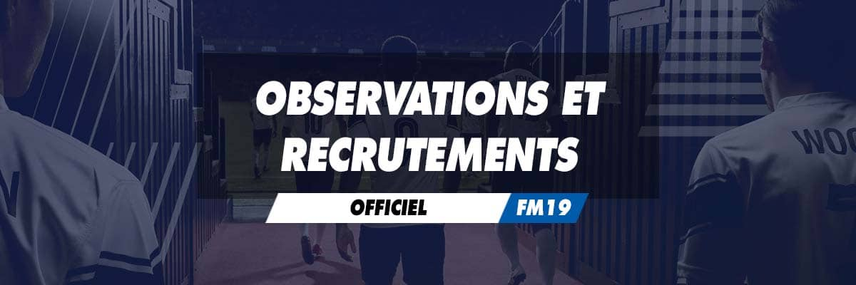 Observations et recrutements