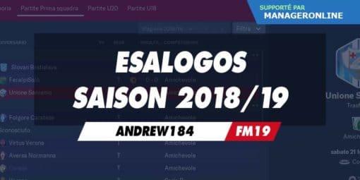Esalogos saison 2018/19
