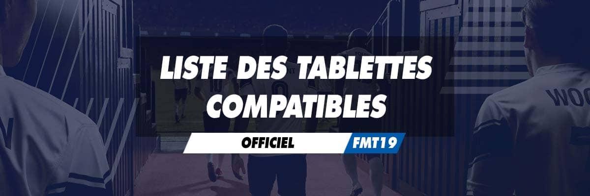 liste des tablettes compatibles