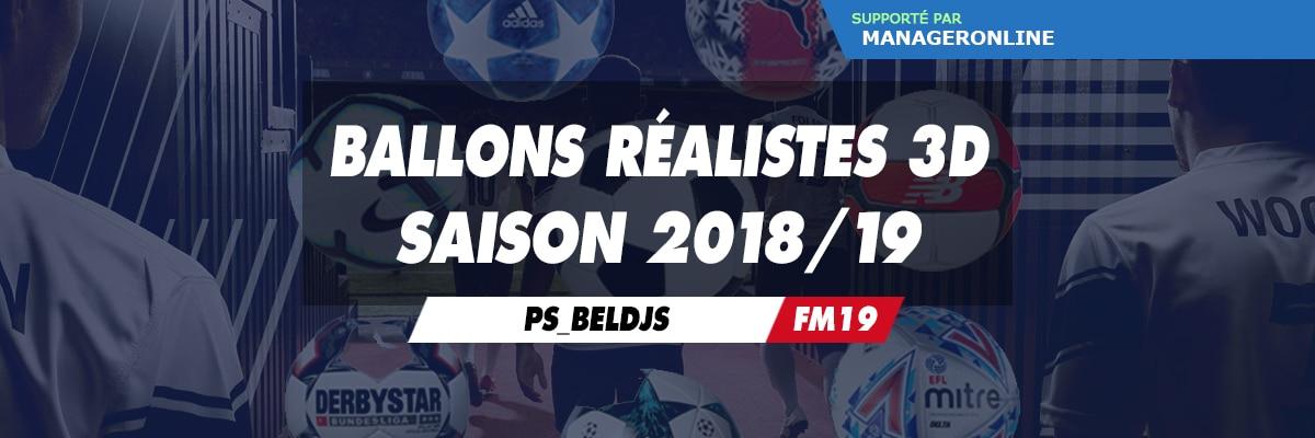 Ballons réalistes 3D saison 2018/19