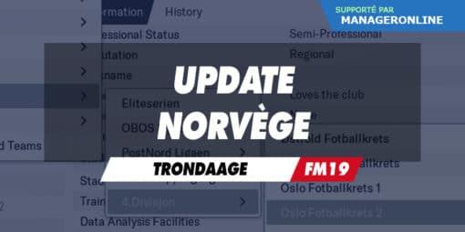 Update Norvège par trondaage