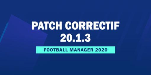 Patch correctif officiel 20.1.3