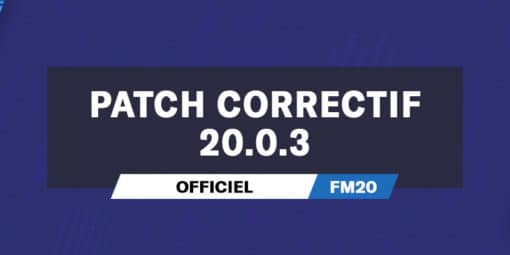 Patch Correctif Officiel 20.0.3