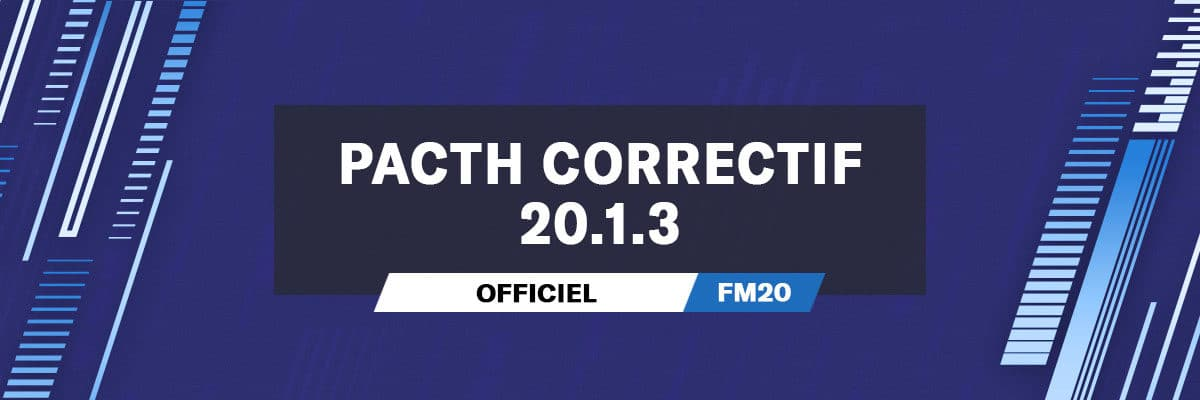Patch correctif officiel 20.1.3