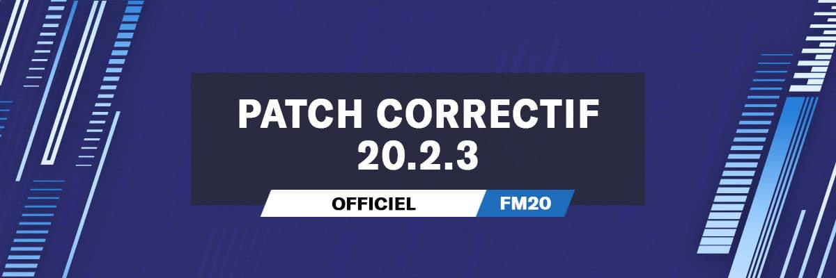 Patch correctif officiel 20.2.3