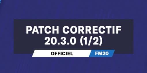 Patch correctif officiel 20.3.0p1