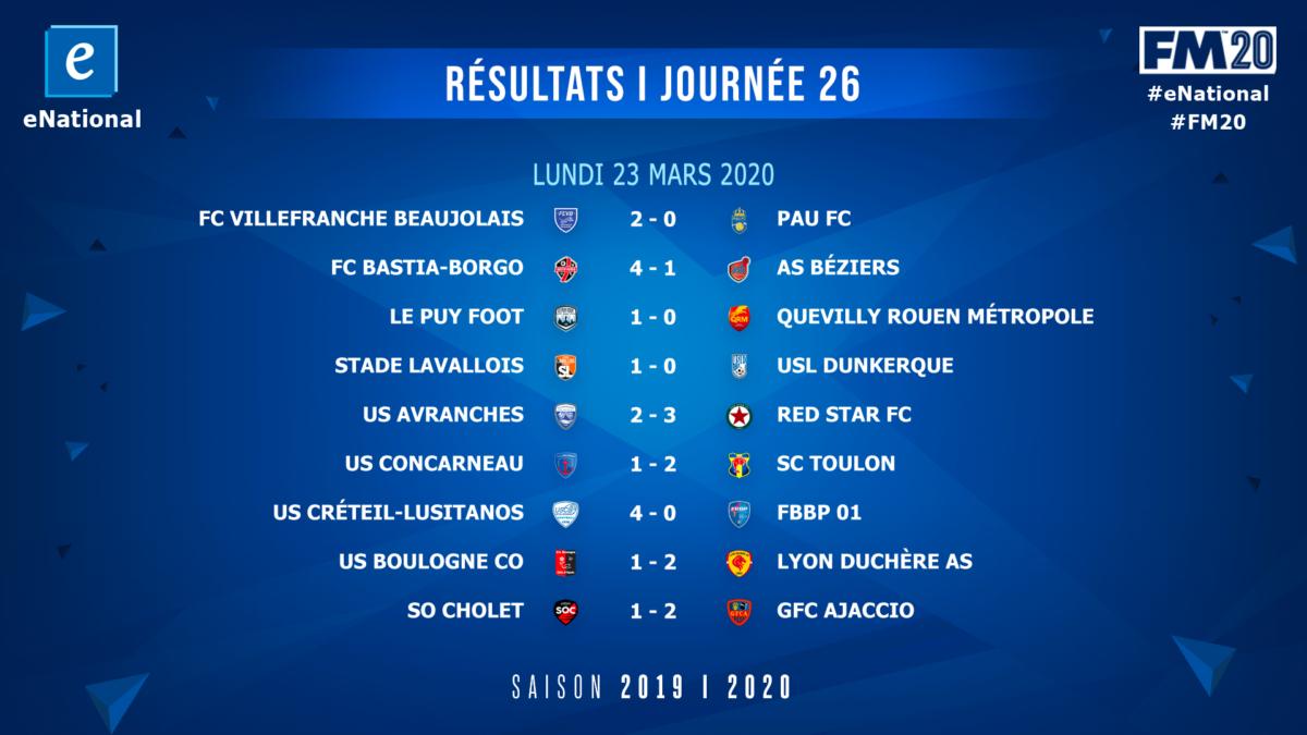 Resultats J26