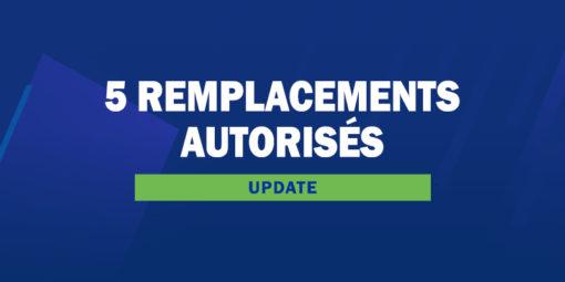 FM20 - Update 5 remplacements autorisés