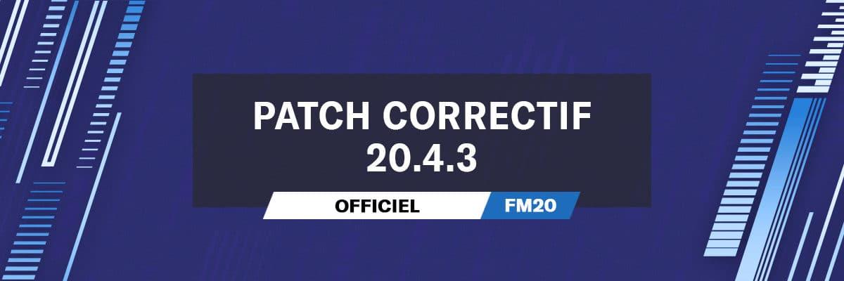 Patch Correctif Officiel 20.4.3