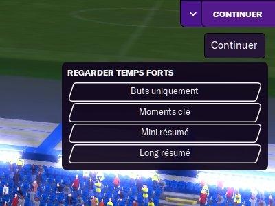 Blocage en fin de match fm21