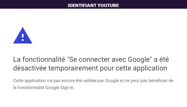 Identifiant YouTube