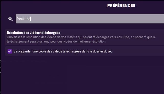 Préférences YouTube