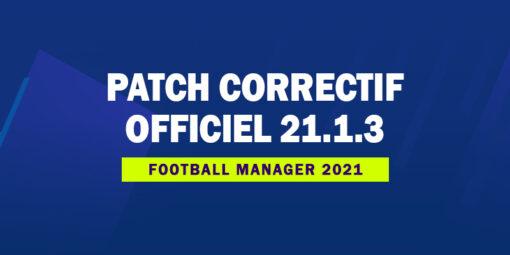 Patch correctif officiel 21.1.3