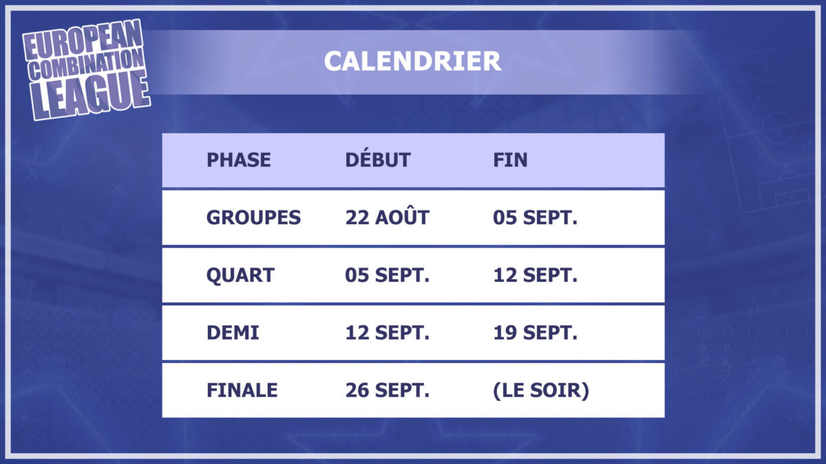 Calendrier FMECL 2020-2021