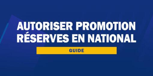 Autoriser la promotion des réserves en National